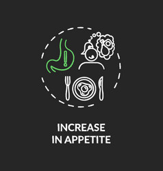 Increase in appetite chalk rgb color concept icon vector
