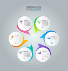 Infographic design business concept with 6 options vector