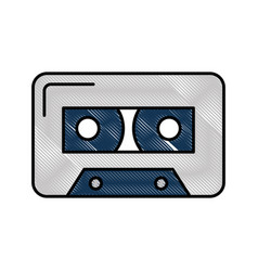 Isolated audio cassette tape vector