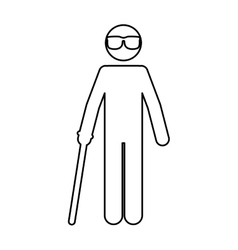 Isolated blind people design vector
