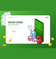 isometric poker casino casino poker tournament vector image
