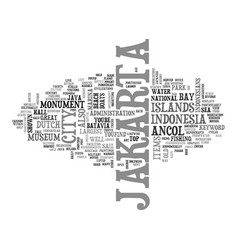 jakarta text background word cloud concept vector image