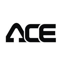 Letter ace modern template vector