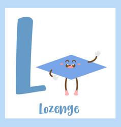 Letter l vocabulary lozenge shape vector