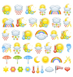 Love weather icons vector