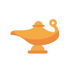 Magic lamp flat style icon vector
