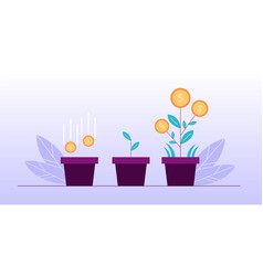 money flower investment deposit growth design vector image