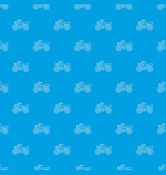 motorcycle pattern seamless blue vector image