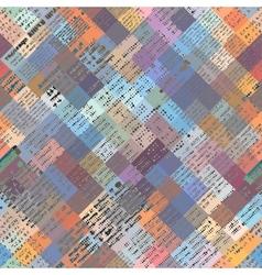 Newspaper geometric background vector