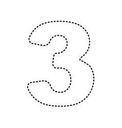 number 3 sign design template element vector image