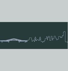 Panama single line skyline vector