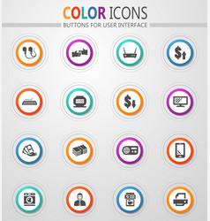 Pawn shop icons set vector
