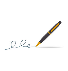 pen and signature vector image