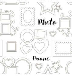 Photoframe set pattern vector