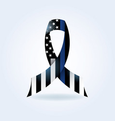 Police support ribbon vector