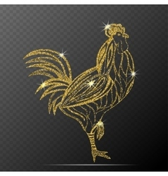 Rooster isolated vector