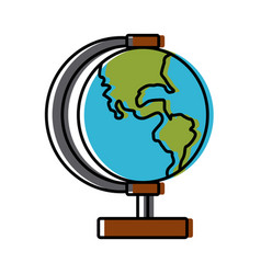 school globe map earth education element vector image