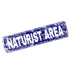 scratched naturist area framed rounded rectangle vector image