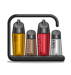 Shakers for salt and pepper vector