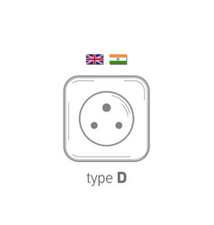 Sockets icon type d ac power sockets realistic vector