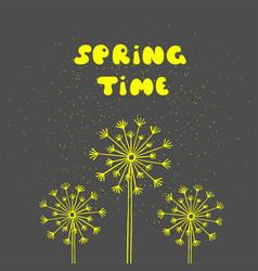 spring time postcard seasonal phrase ink vector image vector image