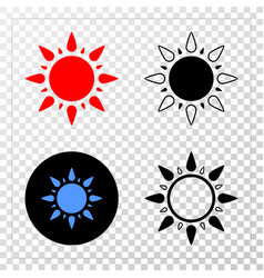 sun eps icon with contour version vector image