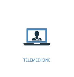 Telemedicine concept 2 colored icon simple blue vector