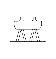 thin line gym horse minimal icon vector image