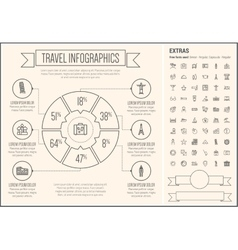 Travel Line Design Infographic Template vector