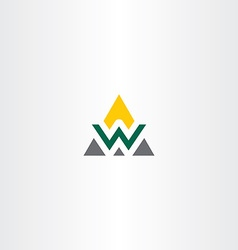triangle logo letter w symbol vector image