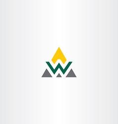 Triangle logo letter w symbol vector