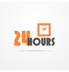 Twenty four hours label vector image