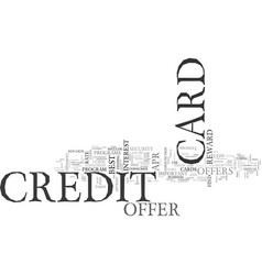 What to look for in a credit card offer text word vector