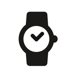wrist mechanical watch icon vector image