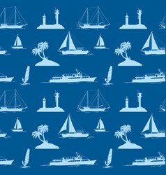 objects related to sea seamless vector image vector image