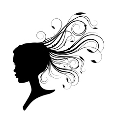 women had with curly hair vector image