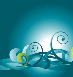 beautiful wave vector image