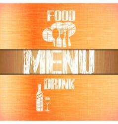 restaurant menu with corners uno vector image vector image