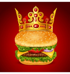 Royal Hamburger vector image