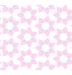 Seamless pattern of pink flowers illlustration vector image