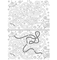 Alien space maze vector image