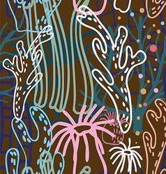 Sea nature seamless pattern vector image vector image