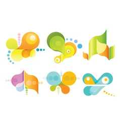 set of 6 abstract icons vector image vector image