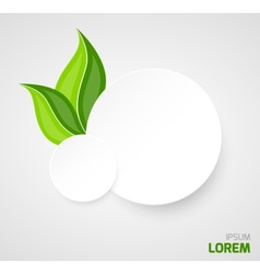 Two paper circles with leaves vector