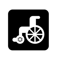 wheelchair medical isolated icon vector image