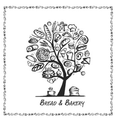 Bakery shop tree concept for your design vector image vector image