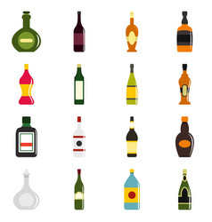 bottle forms icons set in flat style vector image