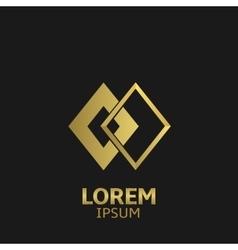 Golden logo vector image vector image