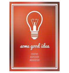 good idea poster vector image vector image