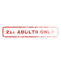 21 plus adults only rubber stamp vector